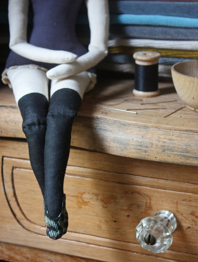 rag doll with black stockings