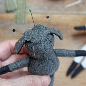lamb doll - stitch head cover