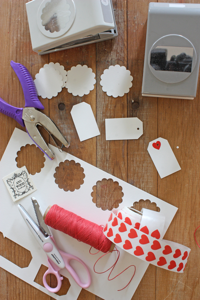 die cutting stamps for tags