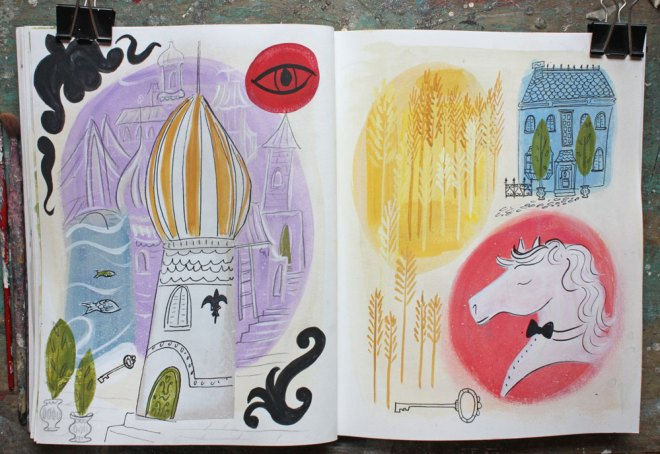 ann wood sketchbook : 2/11 and 12