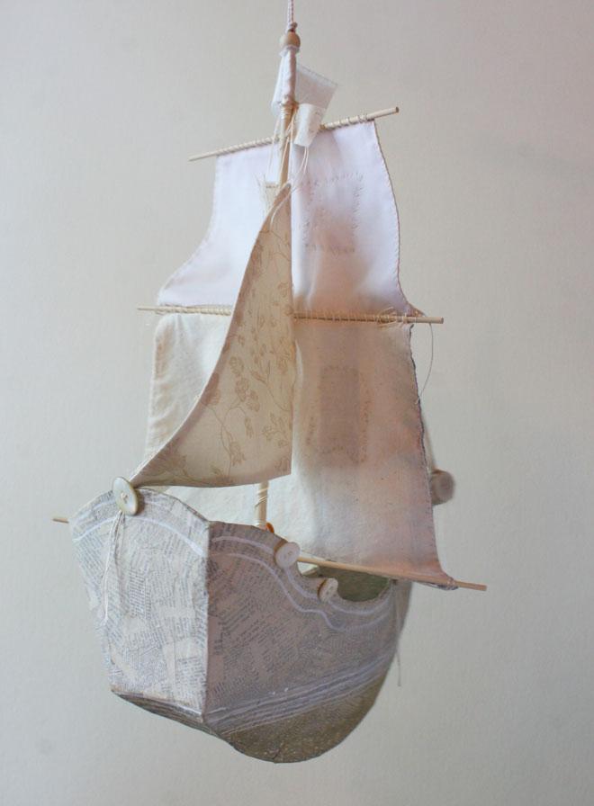 pattern to create a paper mache ship