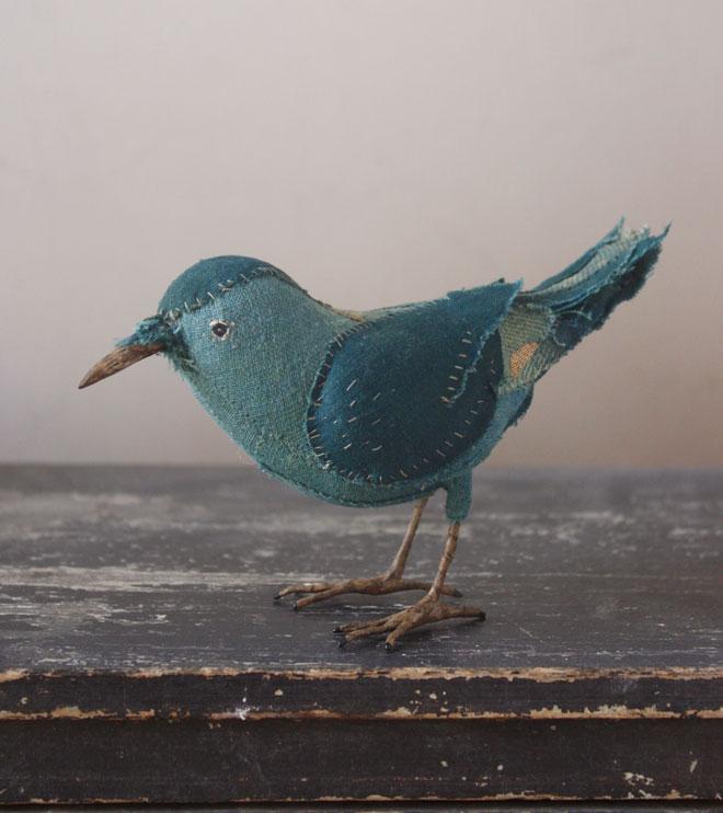 hand stitched songbird