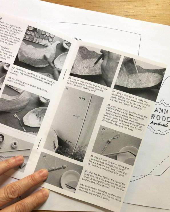 paper mache booklet page