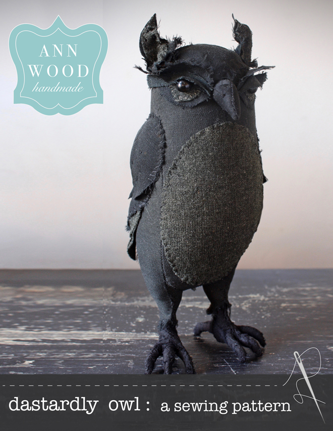 a sewing pattern for a dastardly owl