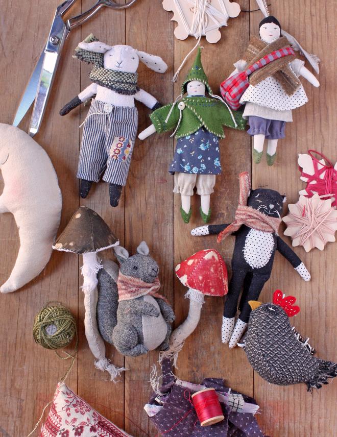 little rag dolls on my work table