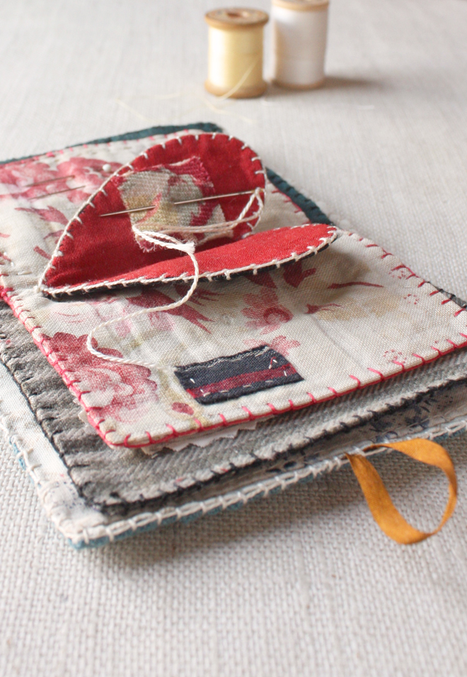 free heart needle book tutorial