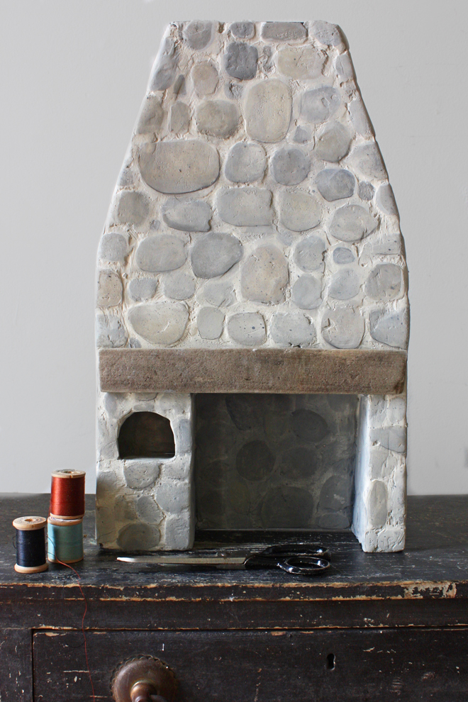 miniature stone hearth tutorial