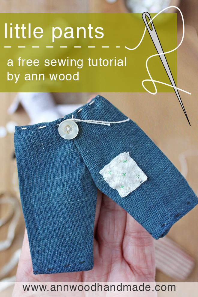 free doll pants sewing pattern