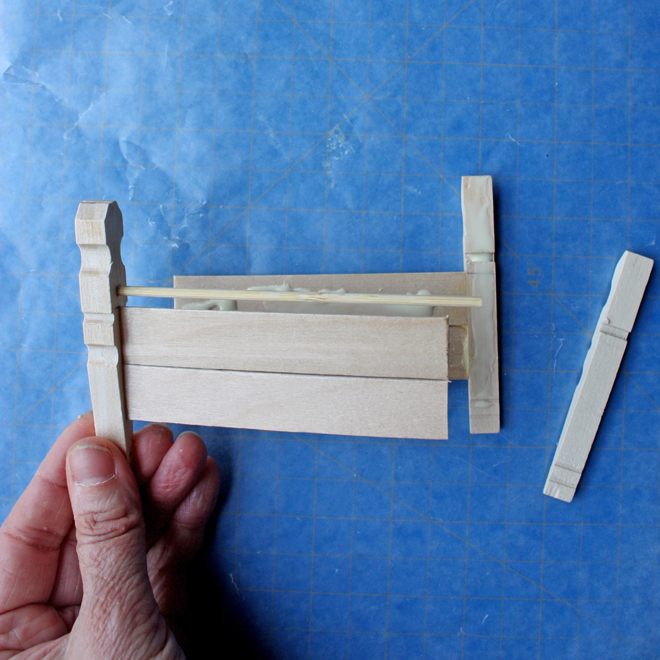 how to make a wood doll bed