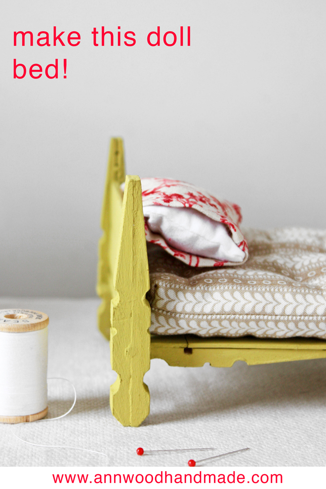make a doll bed from clothespins