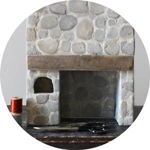 miniature fireplace diy