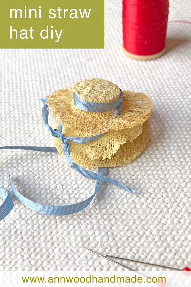 mini straw hat diy