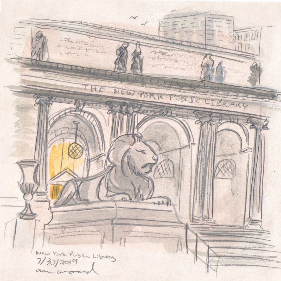 nyc public library painting