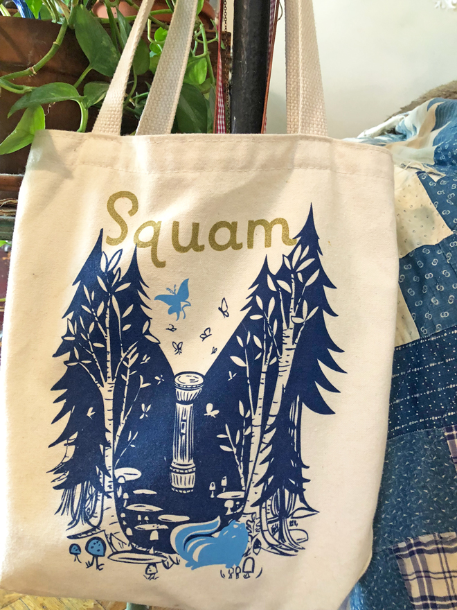 squam art tote bag