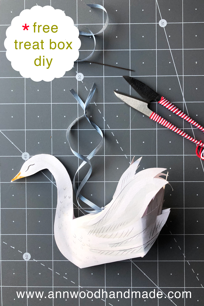 make a paper swan treat box