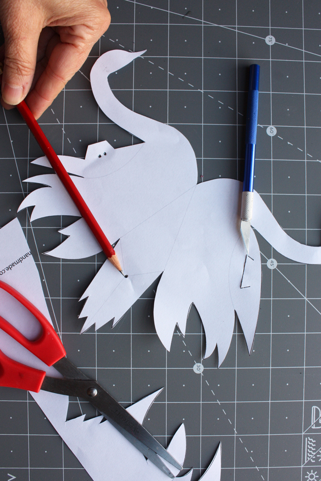 paper swan favor box diy