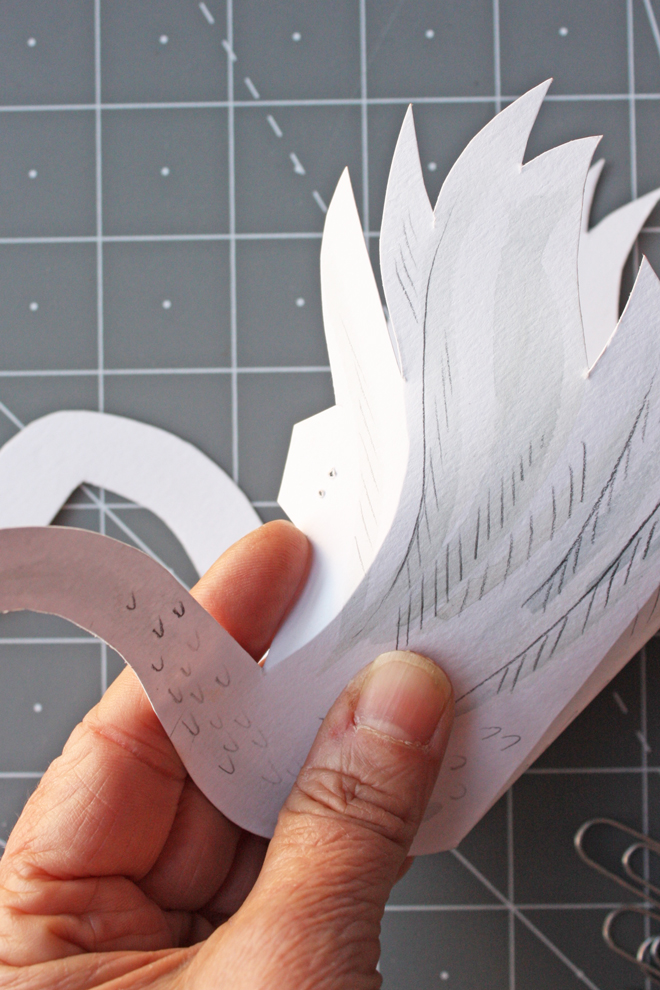 paper swan box diy