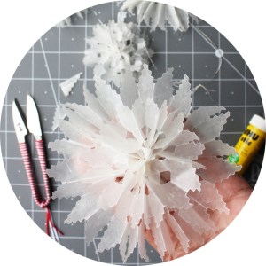 wax paper star diy