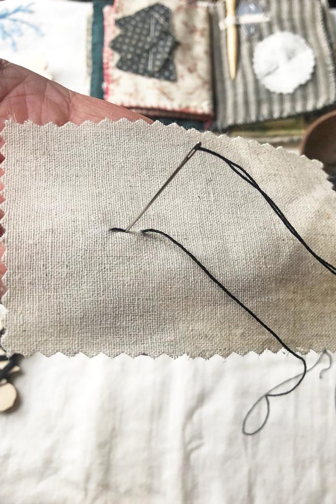 back stitch step 2