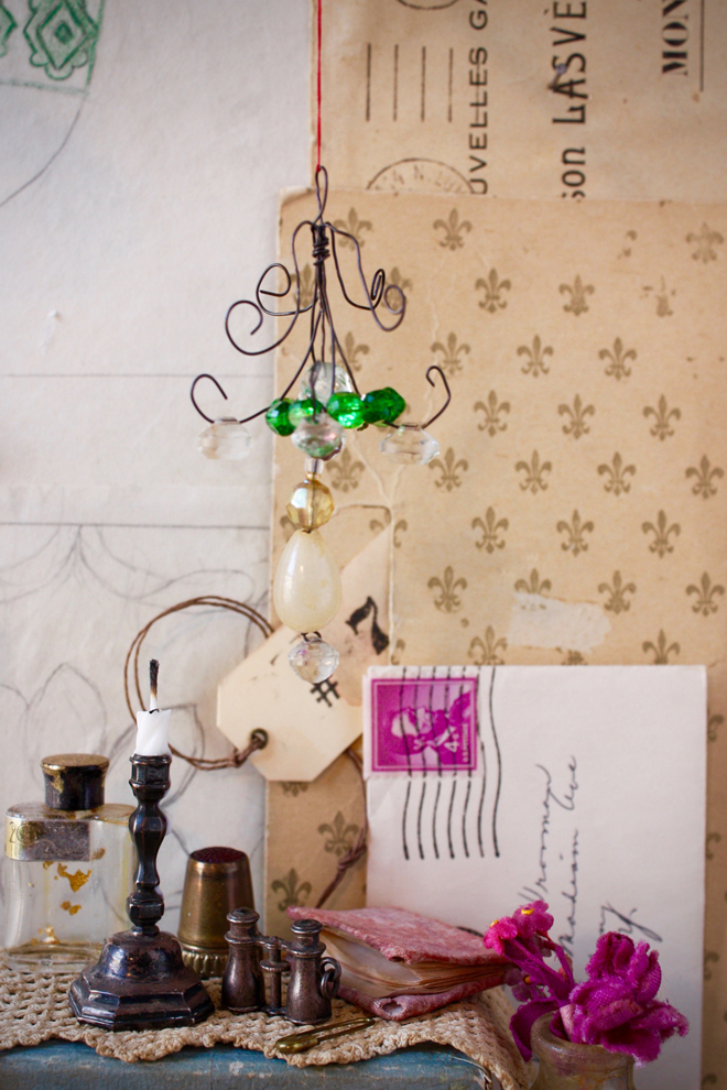 dollhouse chandelier diy