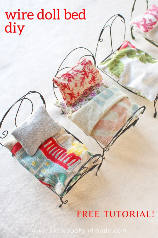 wire doll bed : free tutorial