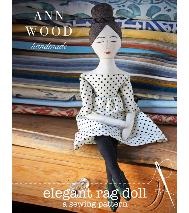 elegant rag doll sewing pattern