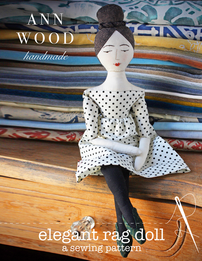 elegant rag doll sewing pattern
