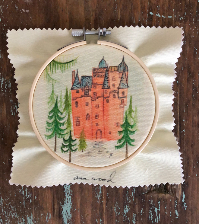 embroidery stitch painting