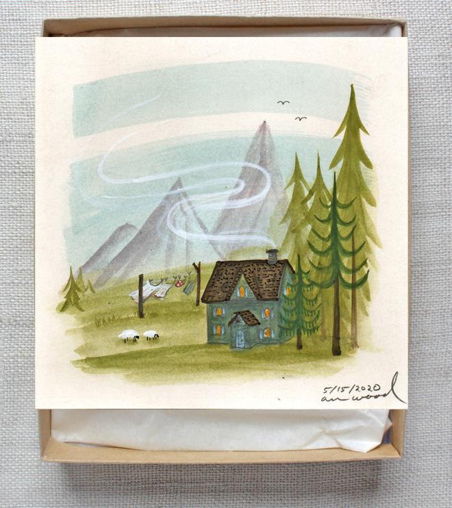 ann wood painting