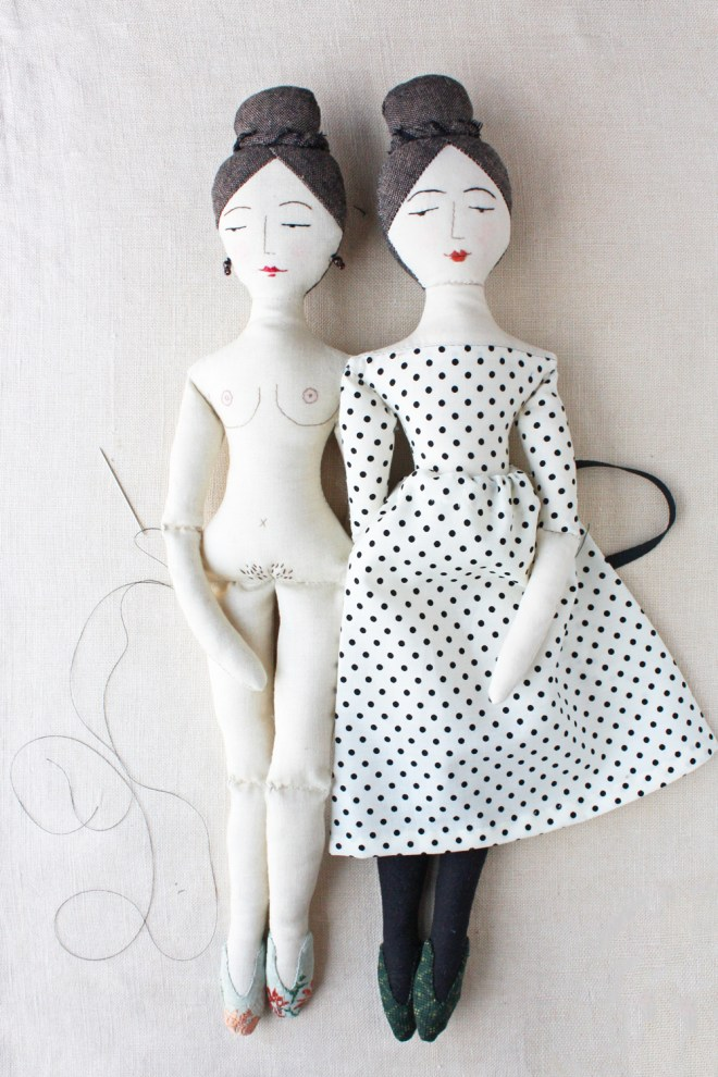 elegant doll sewing pattern
