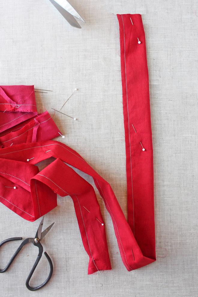 scrap flower necklace diy