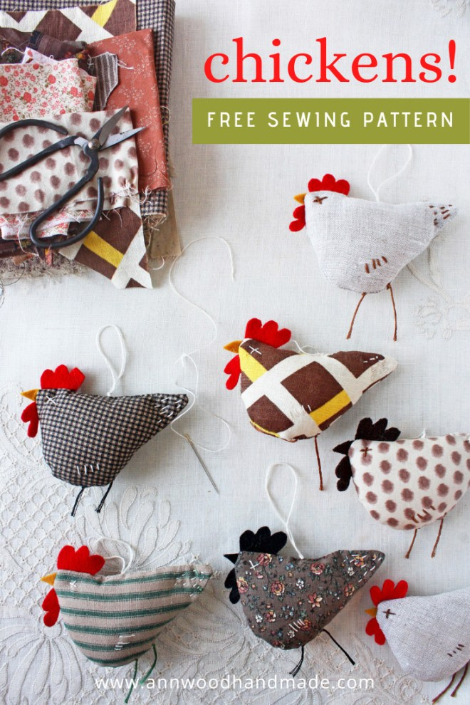 fabric chicken ornaments