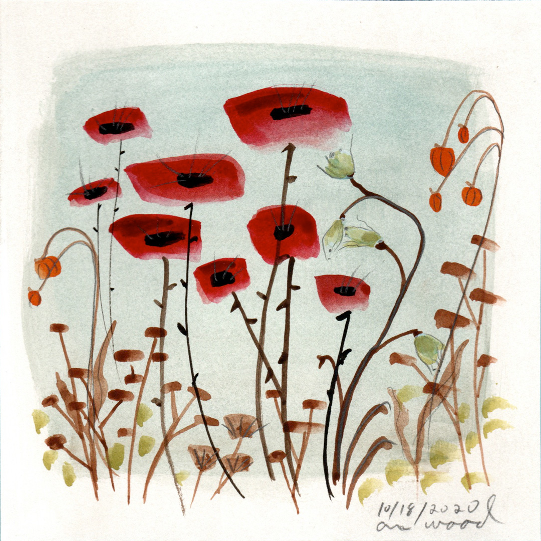 small painting : poppies