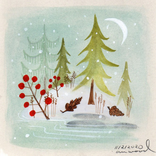 small painting : winter