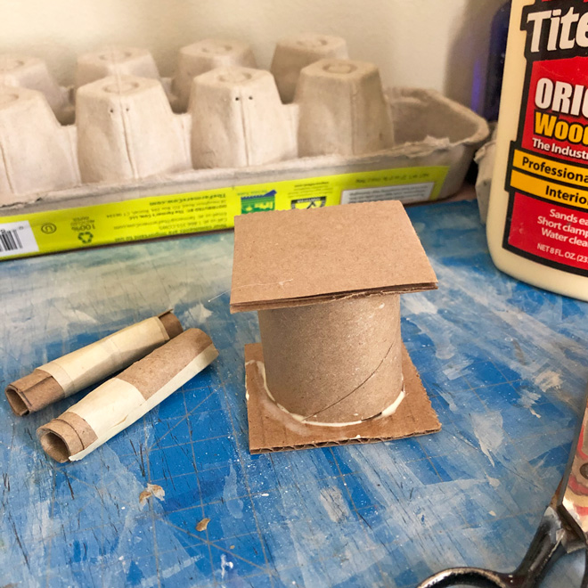 Glued tube and carboards