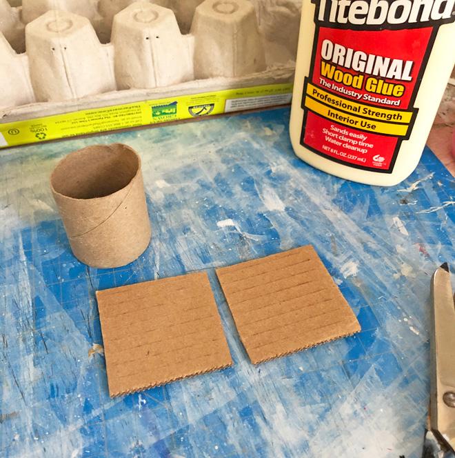 2 - 2 inch cardboard squares