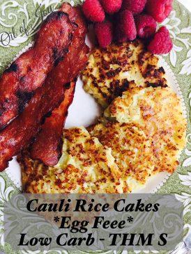Cauli Rice Cakes Finished