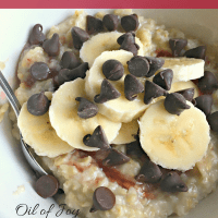 Banana Split Oatmeal * Sugar Free! * Great for Breakfast or Dessert!