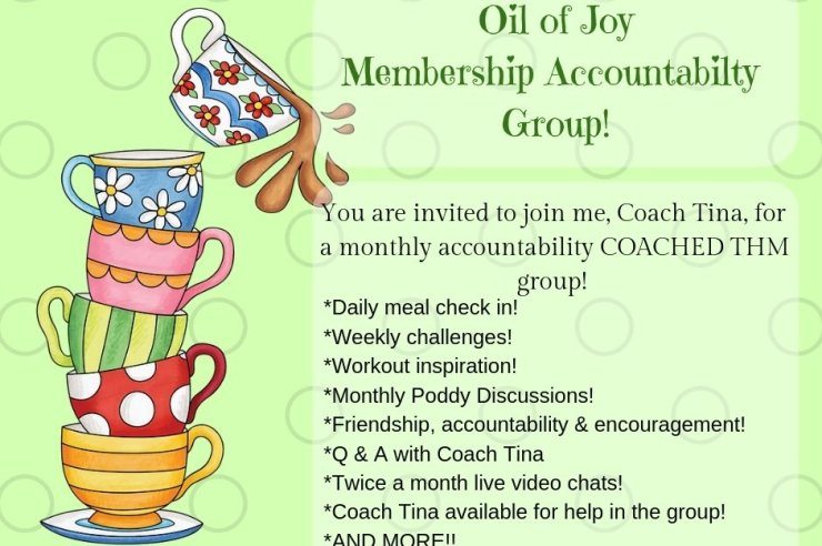 Oil of Joy Membership Accountability Group!