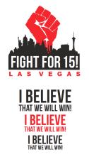 Fight For $15 Las Vegas Shirt Design