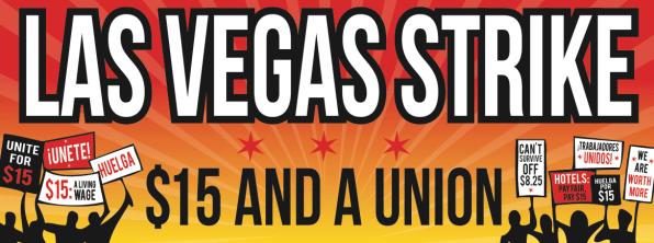 Fight For $15 Las Vegas Banner