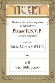 Murder At West Laurel Ticket