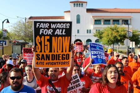 Fight For $15 San Diego Event Banner