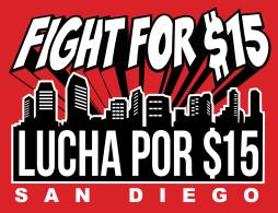 Fight For $15 San Diego Logo