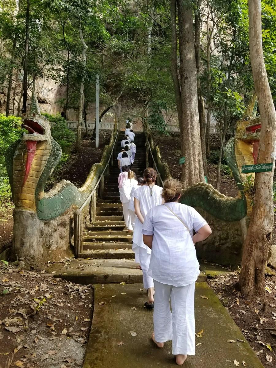 Tam Wua Forest Monastery cave walking meditation