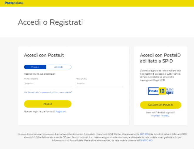 """Credential harvesting page targeting Poste Italiane, the Italian postal service provider who also provide a range of financial services, hosted on a crafted """"psd2"""" domain"""