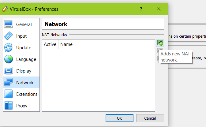 Virtualbox network settings NAT 1