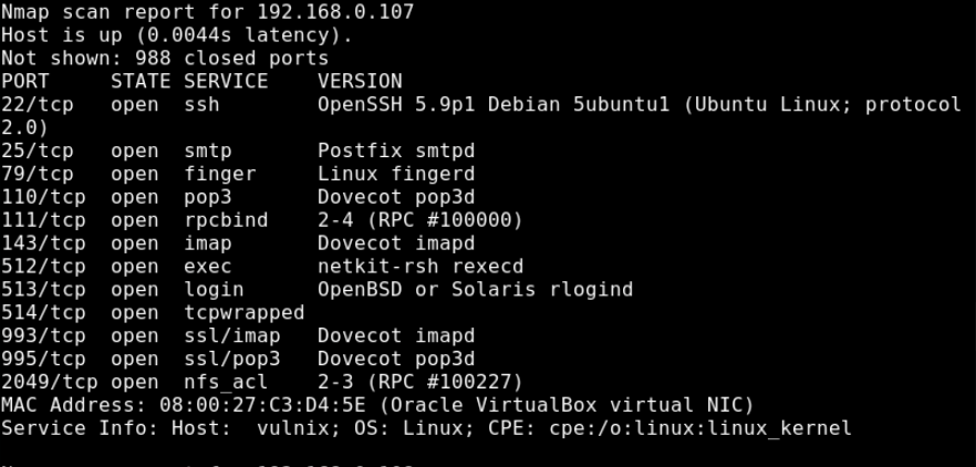Vulnix Vulnerable VM CTF: Walkthrough
