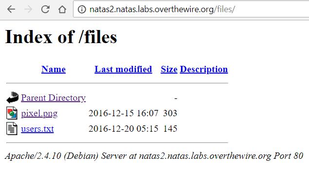 Overthewire natas 0