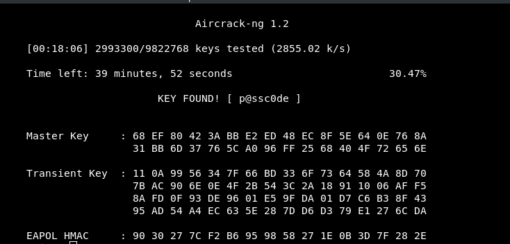 Cracking WPA/WPA2 Wifi password using Password list